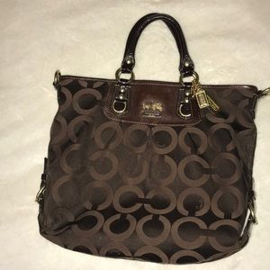 Chocolate brown COACH bag